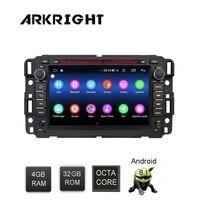 ARKRIGHT 7 2din 4 + 32 ГБ Android 8,1 автомобильный радиоприемник для chevrolet traverse Tahoe Suburban GMC gps; стереооборудование для автомобиля/плеера gps DSP