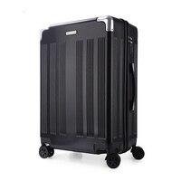 Троллейбус случае ABS + PC 20 24 Алюминий сплава рама Бизнес дорожного чемодана колесные тележки чемодан для переноски Чемодан чемодан на колес