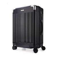 Trolley Case ABS +PC 2024Aluminum Alloy Frame Business Travel Suitcase Wheeled Cart Suitcase Carrying Luggage Rolling suitcase