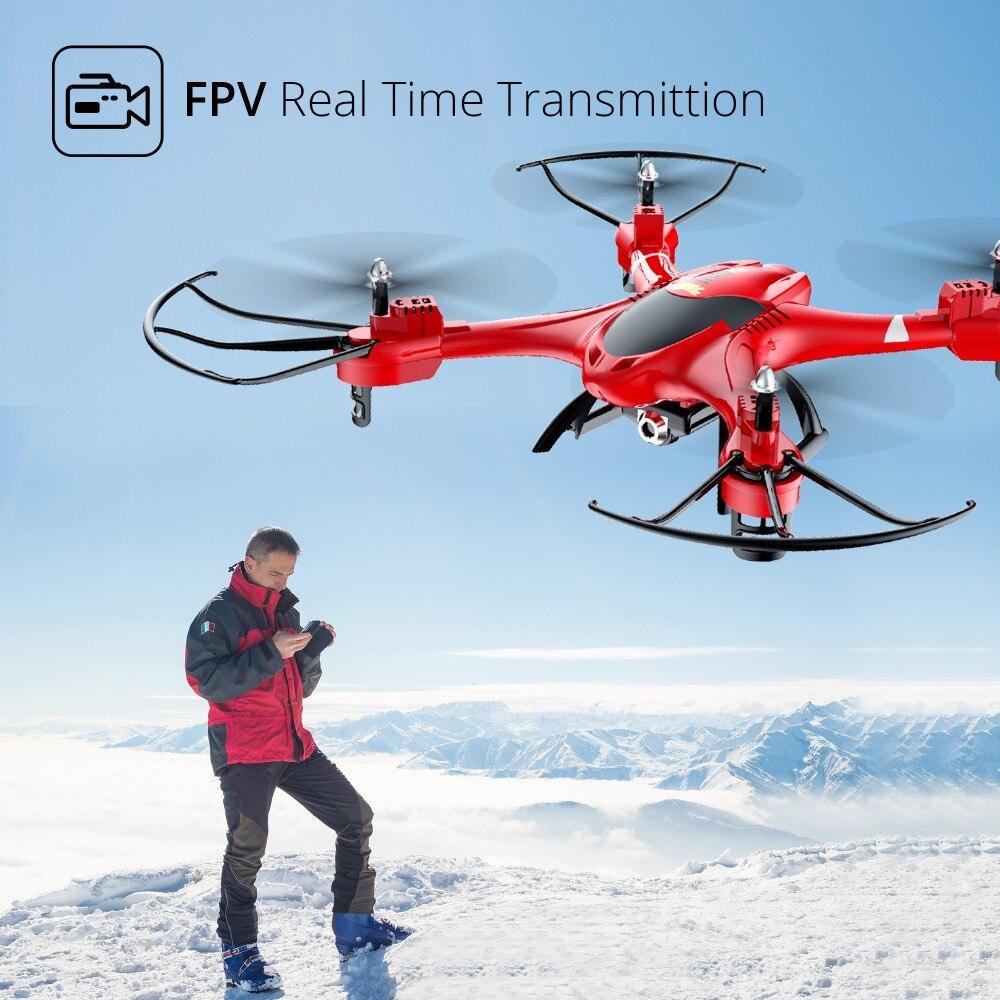 Holy Stone HS200 Red RC Drone con cámara FPV HD Wifi en vivo con - Juguetes con control remoto - foto 2
