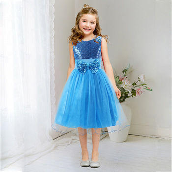 New 8 colors Summer Lovely Sweet Girl Sleeveless Floral Bead Bow Ball Gown Princess one Piece Tulle Dress For Wedding Party semi formal summer dresses