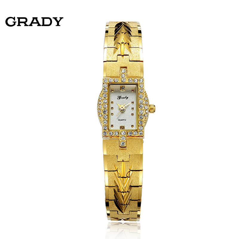 Hot sales!!! free shipping gold ladies women watches fashion brand diamond wristwatches casual quartz watch free shipping
