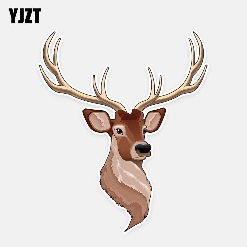 YJZT 14 см * 16,5 см модные Светоотражающие Животные Олень ПВХ аксессуары автомобиля наклейки стикер автомобиля 5-0607