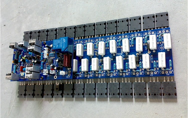 Mono Amp Board Stage Amplifer Board Consumer Electronics New 28pcs C5200 A1943 Power Tube Jrc5532d Op Amp Assembled 1500w Powerful Amplifier Board