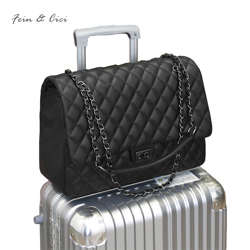 large big jumbo shoulder bag women Travel Bags Leather Pu Quilted Bag bao bao crossbody bag luxury brand chains CF flap handbag