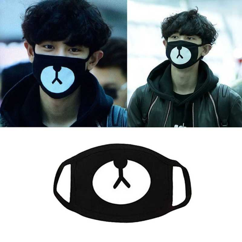 2019 new Unisex Black Cosplay Party Outdoor Cool Anti Dust Cotton Mouth Mask Cute Bear