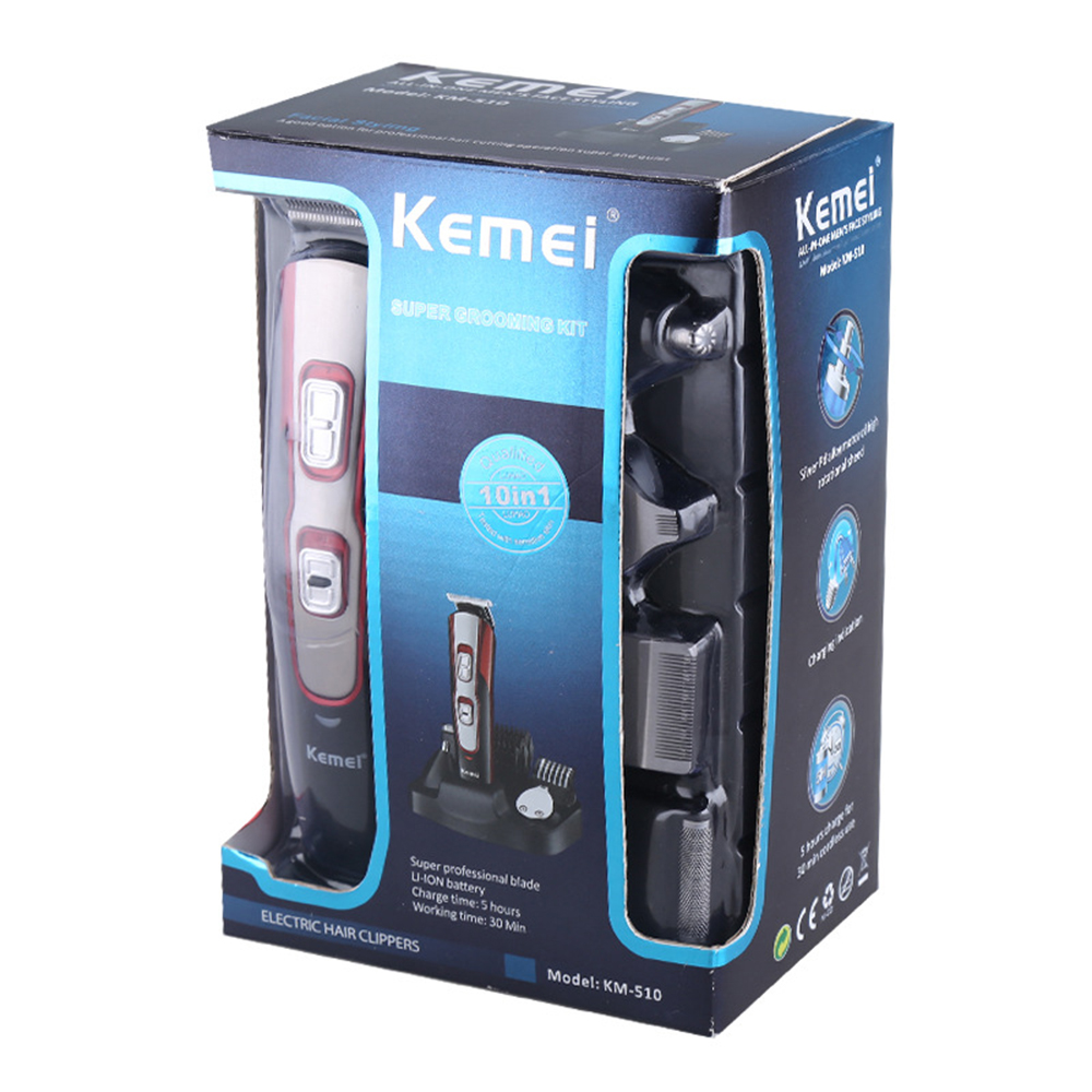 5 in 1 Professional Electric Shaver Cleaning Razor Haircutter Clipper Beard Nose Hair Trimmer Kemei Rechargeable Cutting Machine5 in 1 Professional Electric Shaver Cleaning Razor Haircutter Clipper Beard Nose Hair Trimmer Kemei Rechargeable Cutting Machine