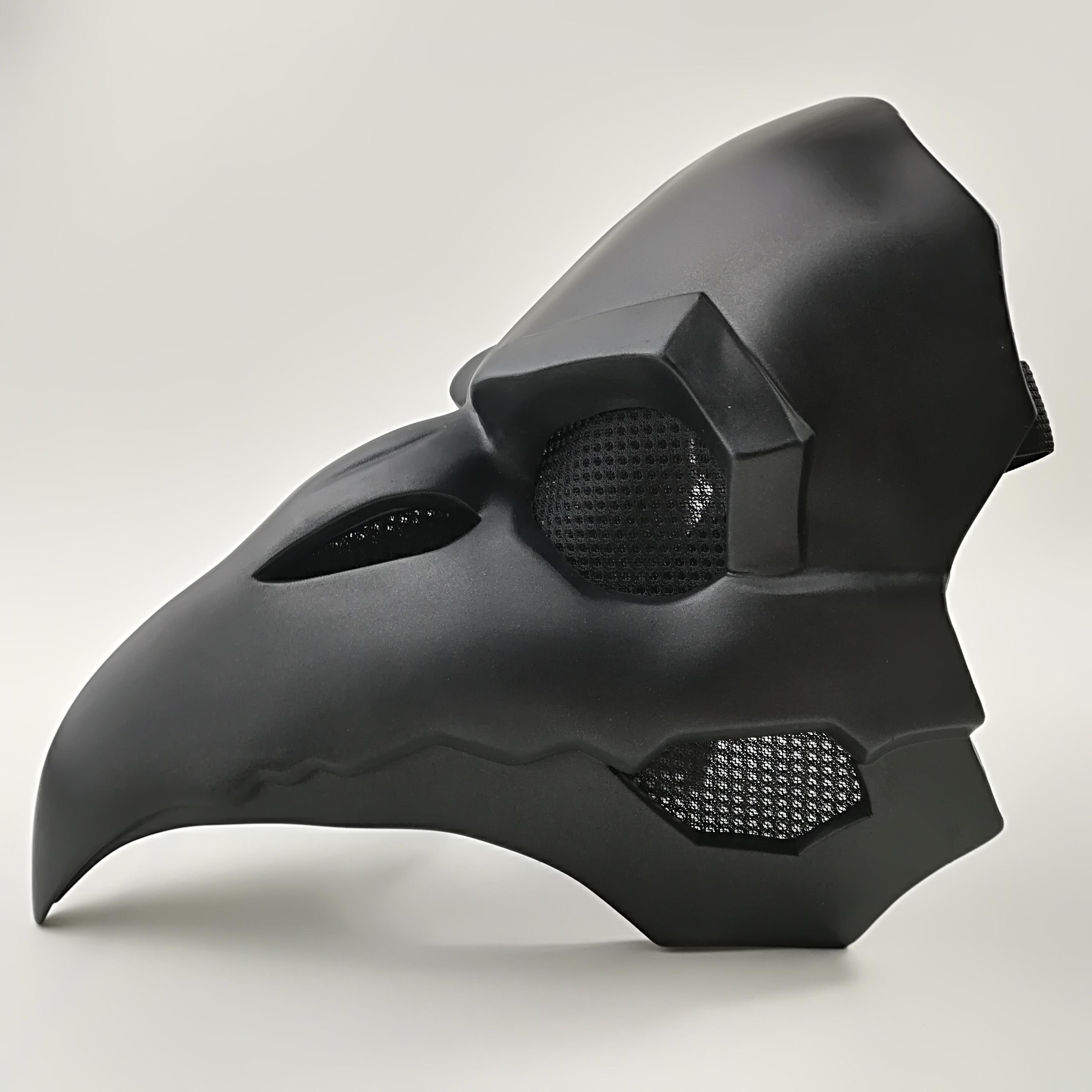 Corvo reaper nevermore pele preto máscaras reaper praga médico máscara aves longo nariz punk corvo retro rock legal ow tipo pvc máscara punk