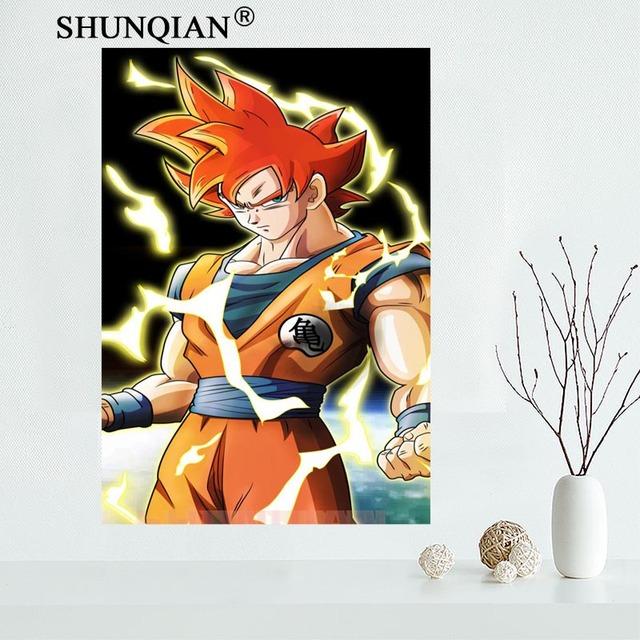 Nice Custom Goku Dragon Ball Z Canvas Poster Print Painting Art Wall Silk Cloth Fabric 27x40cm30x45cm