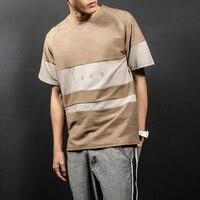 New Japanese Style T Shirt Men Short Sleeve Patchwork T Shirt Male Fashion Summer Boys Tops