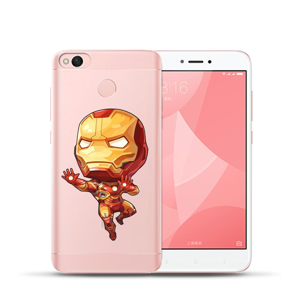 Fashion Phone Case For Xiaomi Redmi 4 4A 4X 5A NOTE 4 4X 5A Mi6 A1 5X Mini Marvel Soft TPU Silicone Back Cover Coque Carcasas in Fitted Cases from Cellphones Telecommunications