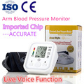 Auto LCD Arm Blood Pressure Pulse Monitor Home Digital Upper Portable Meters sphygmomanometer for heart voice Health Care