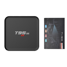 T95M 1GB 8GB tv box Amlogic S905X 2.4GHz WIFI Android 6.0 Quad Core Streaming Smart Set-top Media Player t95m amlogic s905x android 5 1 4k tv box