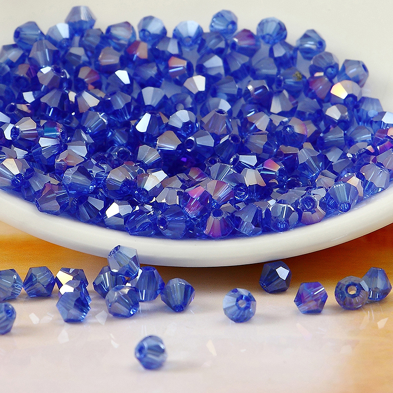 5301# Grade AAA Sapphire AB Color 3mm 4mm,6mm,8mm Crystal Bicone Beads,Garmet/Jewelry Stones Decoration Free shipping