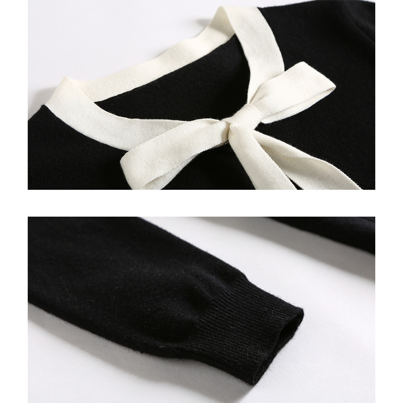Lunghe Inverno Nero Vestito Black Maniche A Delle Lavorato Maglia Dolce Abbigliamento Casual Q252 Maglioni Autunno Del Cintura Modo Di Donne 2018 tPpUpq