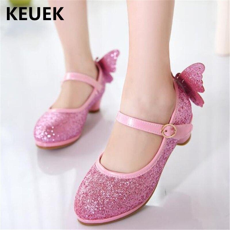 nova primavera verao criancas sapatos altos sapatos de salto alto princesa meninas sapatos de couro estudante