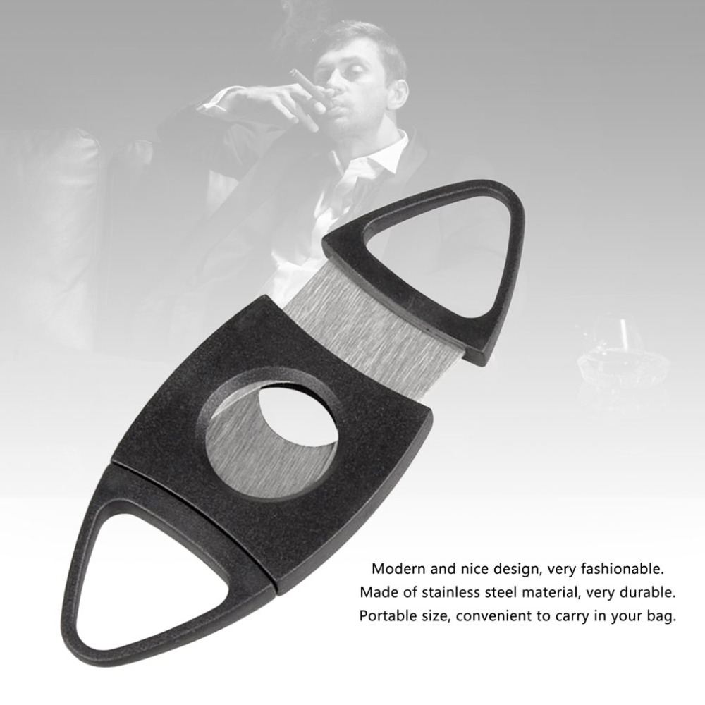 2018 New Portable Stainless Steel Blade Pocket Cigar Cutter Scissors Shears With Plastic Handles Smoking Tool Accessories