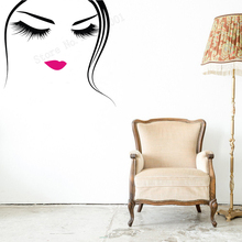 Art Salon Sticker Women Girls Beauty Wall  Eyebrows Brows Eyelashes Lashes Decor Removeable Poster Mural LY44