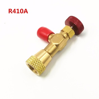 HS-1221 Air Conditioning Refrigerant Plus Liquid Safety Valve R410A Valve 1/4 SAE Male To 5/16 SAE Safety Adaptor image