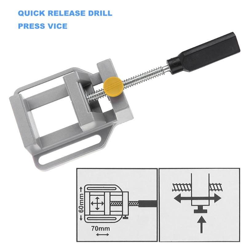 Mini Portable Aluminum Table Flat Vise Press Precision Drill Tool Professional Flat Vise with Screws (Random Delivery )