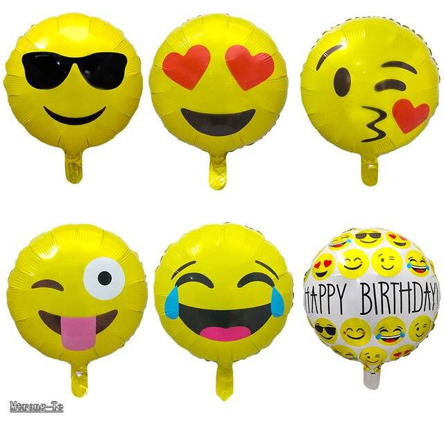 50 Teile Los 18 Zoll Ausdruck Emoji Folie Ballons Fur Geburtstag