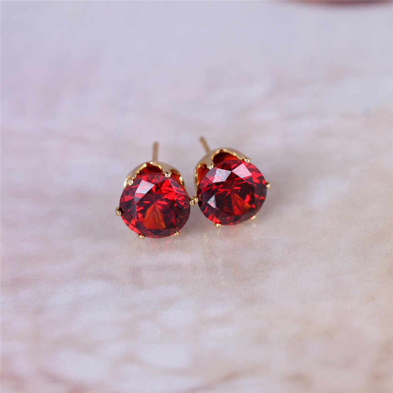 Luxus marke schmuck Österreichischen kristall ohrringe für frauen stud ohrringe für mädchen geschenk Zwei paare von Gold/Silber