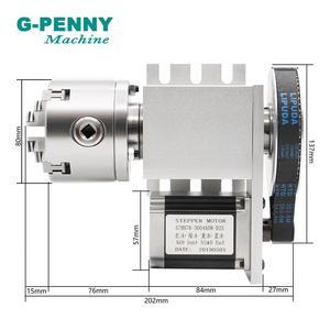 Image 4 - SALE! 80mm 4 Hàm CNC 4th Trục CNC chia đầu/Xoay 6:1 Trục/MỘT trục Bộ Mini CNC Router/chạm khắc gỗ khắc chữ