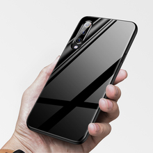 Luxury Plain Mirror Tempered Glass Case For Xiaomi Mi 8 9 SE Lite F1 Redmi Note 5 6 7 Pro Plus Pocophone A1 Phone Cover Coque