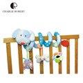 Diseño Idea peluche de juguete de bebé recién nacido móvil sonajeros juguetes para niños de colores animal del bebé cochecito de juguete colgando HK607