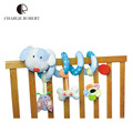 Idea Design plush baby toy educational newborn mobile baby rattles toys for kids colorful animal baby stroller toy hanging HK607