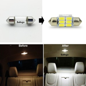 Image 5 - Safego 4x LED Festoon 31mm C5W 36mm LED canbus 6SMD 42mm LED 9 SMD 5630 Car Interior Dome Lamp License Plate Light Reading Bulbs
