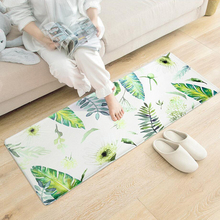 Anti Slip Tropical Plants Printed Floor Mats