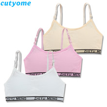 Teen Girl Sports Bra Kids Top Camisole Underwear Young Puberty Small Training Bra For Teenage Girls Clothes Adolescente Lingerie(China)