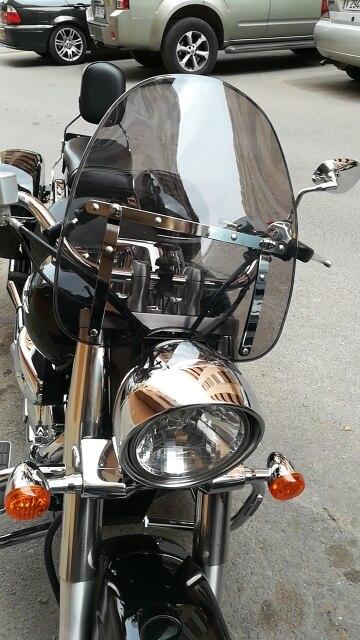7 8 or 1 Handlebars WindScreen For Honda Magna 250 500 700 750 1100 V65 V45
