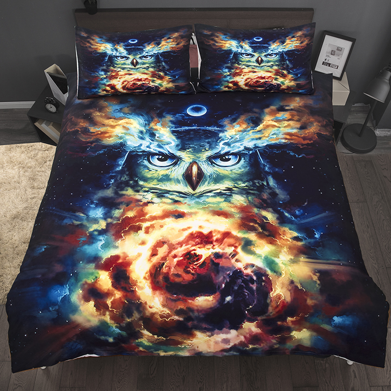 Wongs bedding cool owl duvet cover 3D Printing colorful cartoon Bedding Set single twin full queen king size bedlinenWongs bedding cool owl duvet cover 3D Printing colorful cartoon Bedding Set single twin full queen king size bedlinen