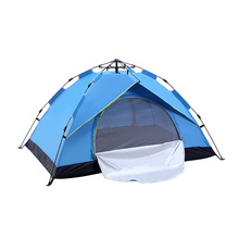 3-4 Person Automatic Camping Tent Outdoor Beach Tent Waterproof Sun Shelter Tent Instant Open Awning Tent Anti UV hillman ultralarge 480 480 200cm 3 walls high quality waterproof camping outdoor sun shelter camping tent large awning