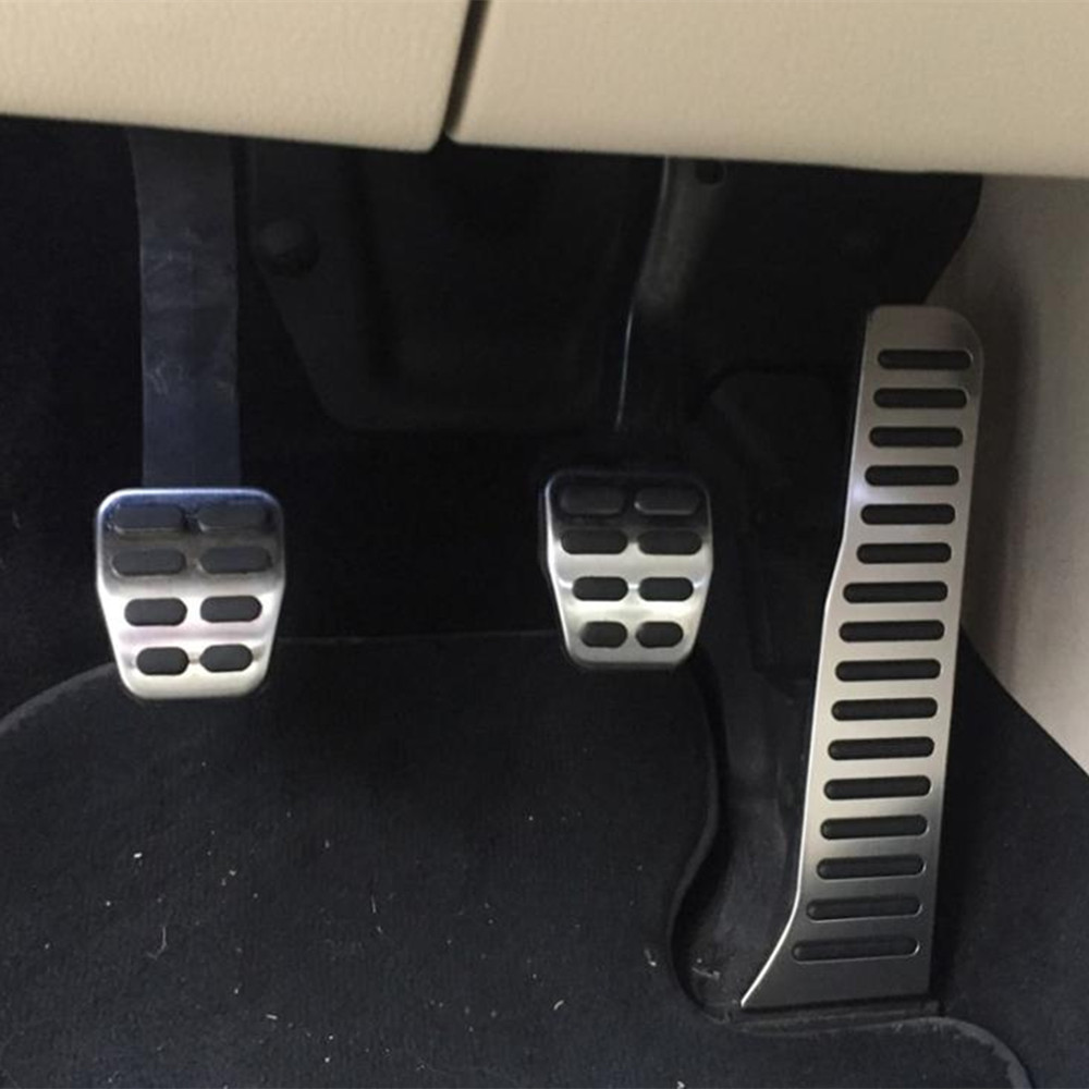 Zlord Car Pedal Pedals Cover For Skoda Octavia Accessories for <font><b>VW</b></font> <font><b>Golf</b></font> <font><b>5</b></font> 6 <font><b>GTI</b></font> Jetta MK5 CC Passat B6 B7 Tiguan Touareg image