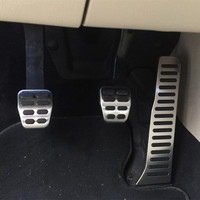 Zlord pedal do carro pedais capa para skoda octavia acessórios para vw golf 5 6 gti jetta mk5 cc passat b6 b7 tiguan touareg