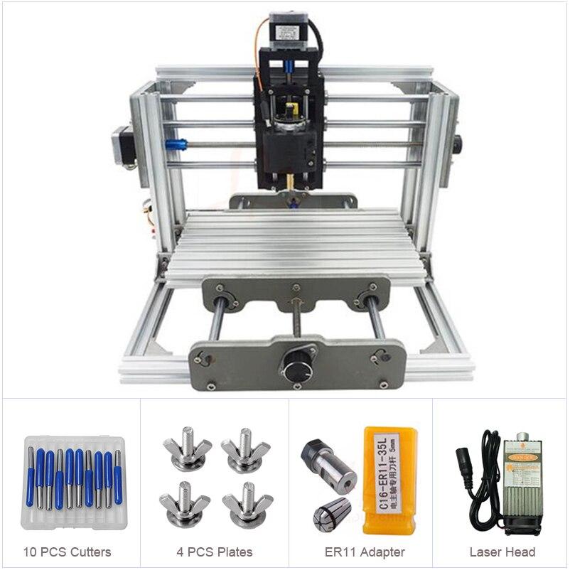 Mini CNC 2417 PRO 500-2500mw Laser CNC Engraving Machine Pcb Milling Machine Wood Carving Machine