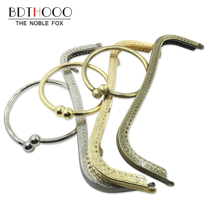 BDTHOOO 10pcs 22cm Metal Clasps For Purses Frame Handle For Clutch Bag Accessories Clasp Square Clasp Lock Bags Hardware