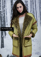 Adorable Verdancy Sheepskin Fur Jacket For Women Gorgeous Design Australian Lamb Fur Leather Coat Double Face Sheep Fur Overcoat