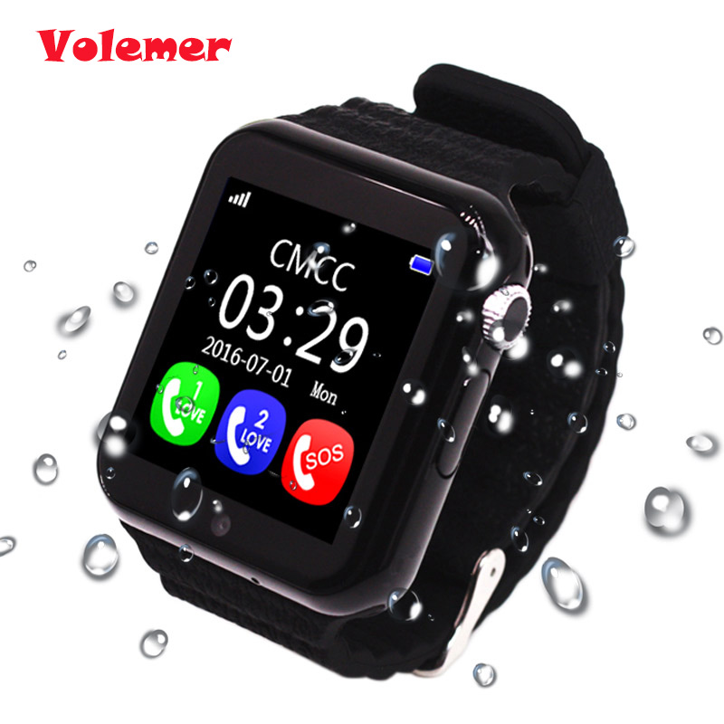 Volemer GPS smart watch kids watch V7k with camera/facebook SOS Call Location DevicerTracker for Kid Safe Anti-Lost Monitor Q90