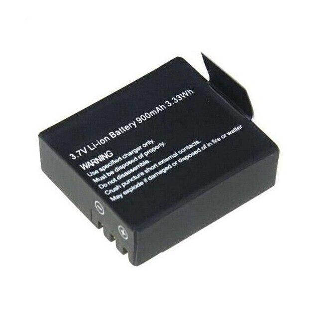 2Pcs 3.7V 900mAh Rechargable Li-ion Battery For SJ4000 WiFi SJ5000 WiFi M10 SJ5000x Elite Goldfox Action Camera 3