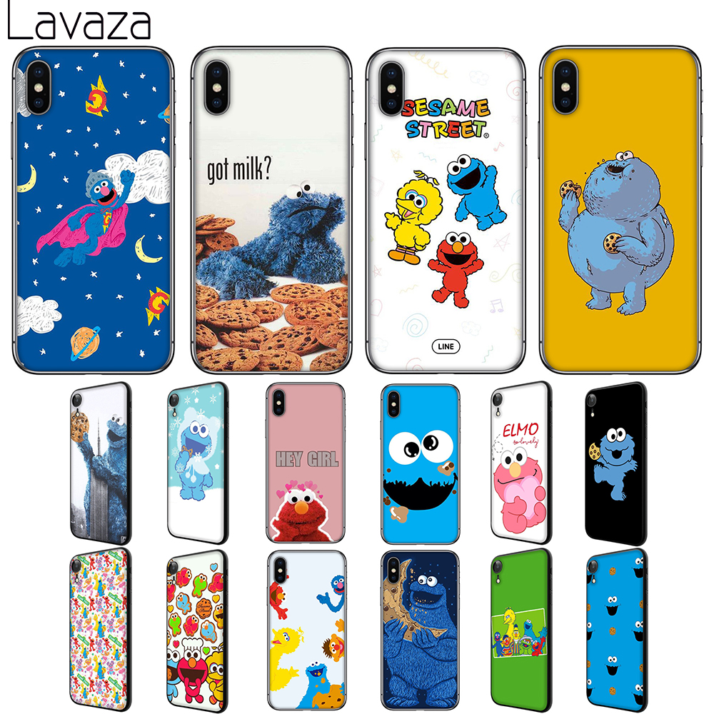 Lavaza Sesame Street Soft Silicone Case Cover for Apple iPhone 6 6S 7 8 Plus 5 5S SE X XS 11 Pro MAX XR