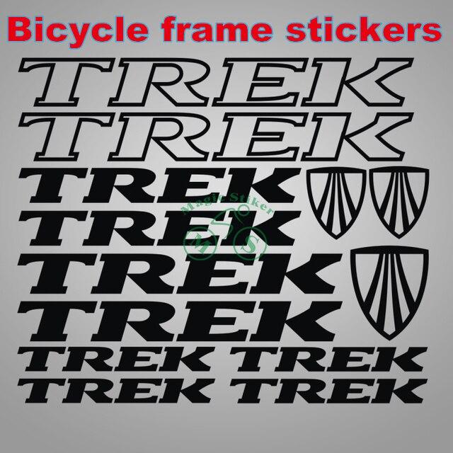 Marco de la bicicleta ciclismo pegatinas calcomanías reflectantes ...