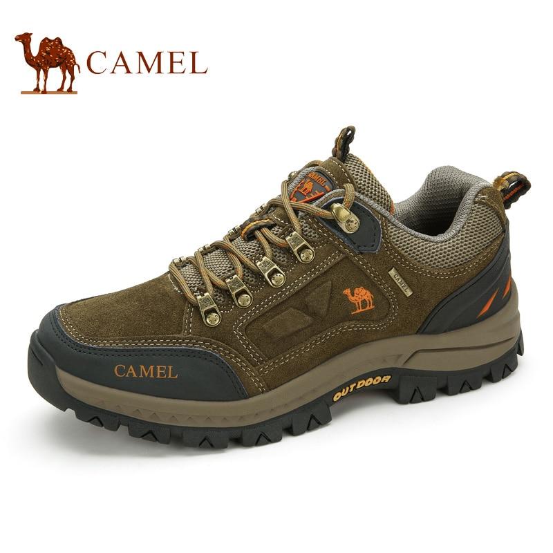 Верблюд открытый кроссовки Для мужчин качество альпинизм обувь носить беговых обувь из натуральной кожи A632026925