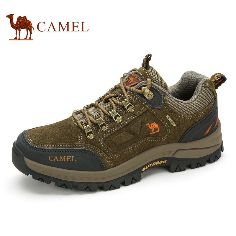 CAMEL Outdoor Hiking Shoes For Men Suede Leather Quality Brand Comfortable Breathable Anti-skid Hiking Climbing Trekking Sneaker