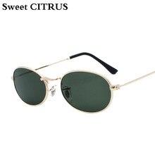 CITRUS doce Clássico Óculos De Sol Das Mulheres Dos Homens do vintage do  punk do metal pequeno Oval óculos de sol para Homem mul. 88a53fd8eb