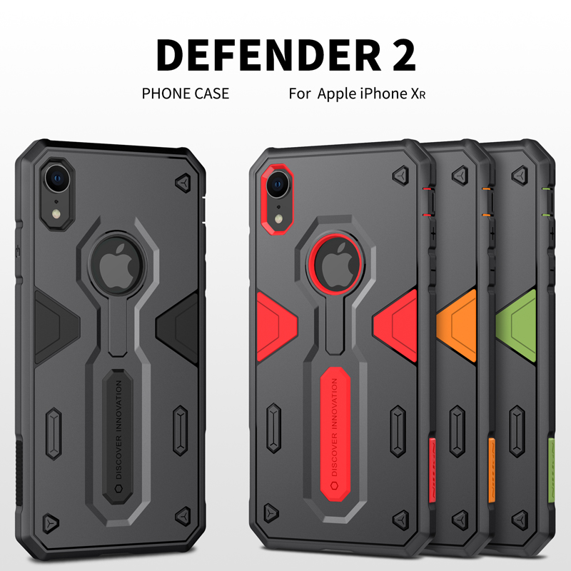 For iPhone X XR XS MAX Case iphone se 2020 Nillkin Defender 2 Shockproof Armour Slim Case For iPhone 7 8 Plus Rugged Shield image