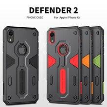 IPhone X için XR XS MAX durumda iphone se 2020 için Nillkin Defender 2 darbeye dayanıklı zırh İnce kılıf iPhone 7 8 artı sağlam kalkan